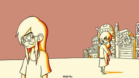 Sakura and Heiko in the Sunset by CryptoboxComics