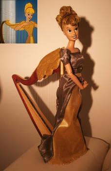disney singing harp ooak
