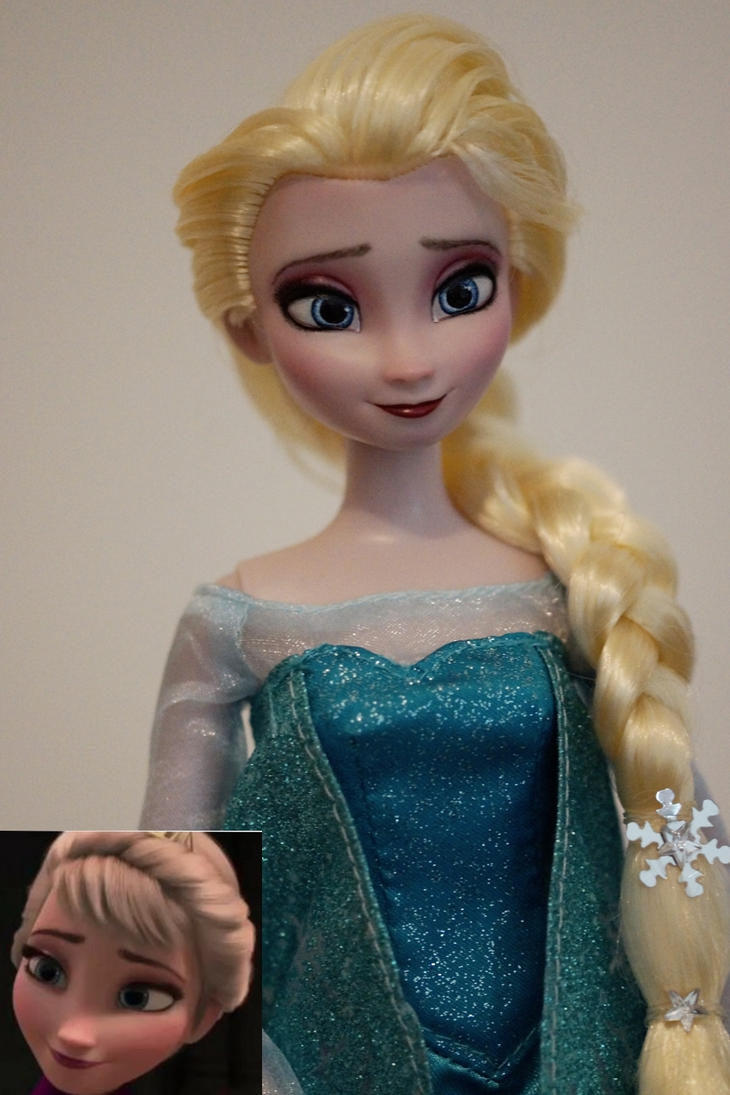 Commissioned Elsa repaint by lulemee