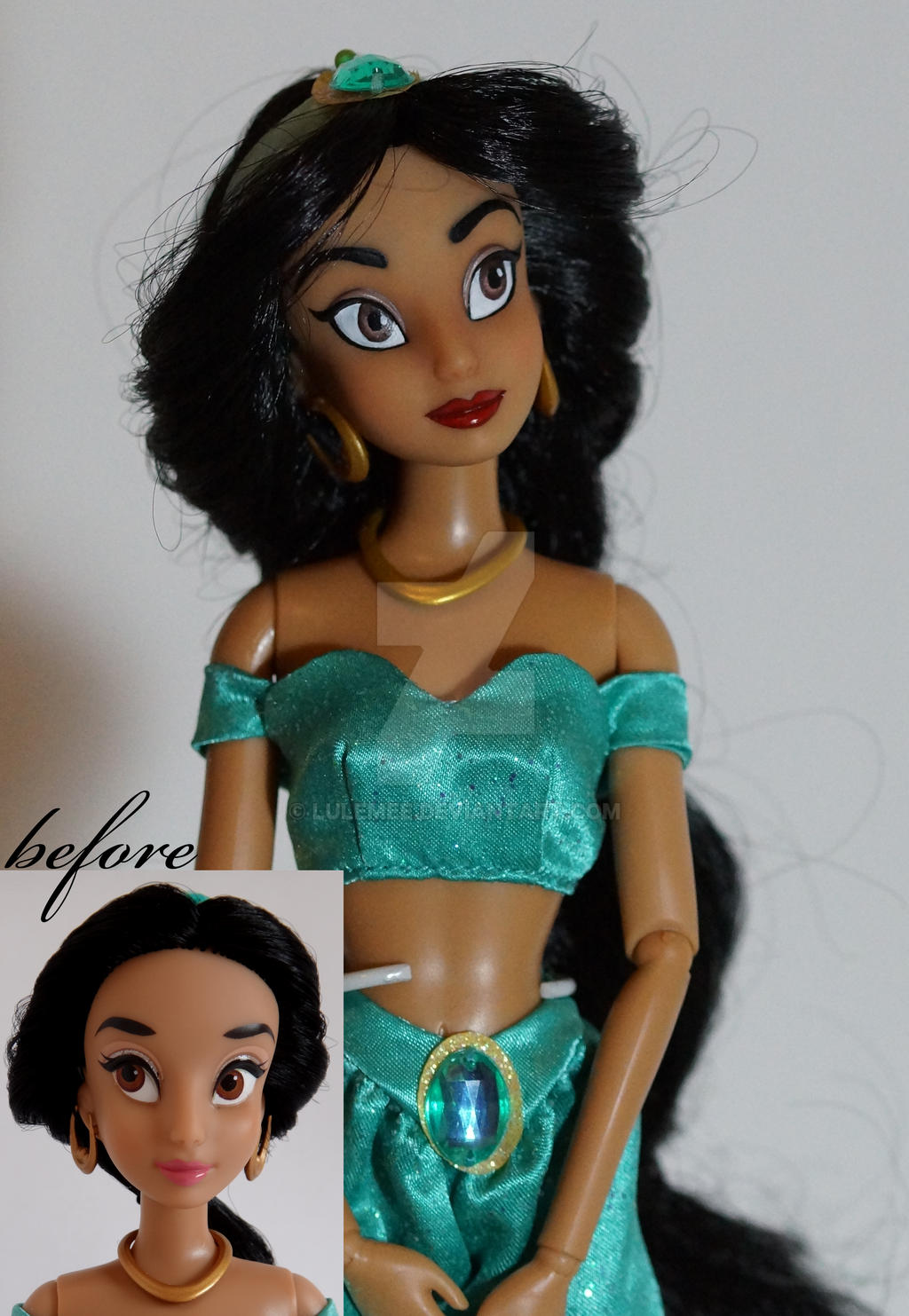 Disney Jasmine OOAK doll by lulemee