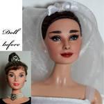 Audrey Hepburn repaint