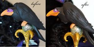 OOAK Limited Edition Maleficent raven Diablo