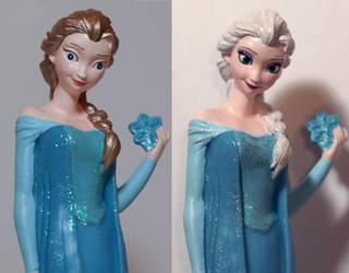 OOAK Elsa money box repaint by lulemee