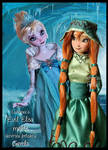 Frozen concept art ooak dolls
