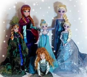 Frozen OOAK dolls