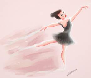 Ballerina in water color