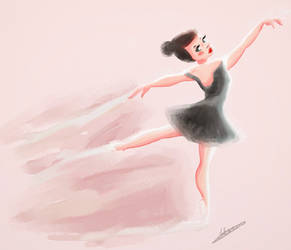 Ballerina in water color