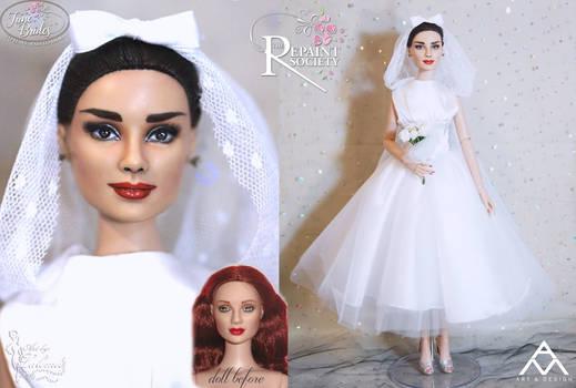 Audrey Hepburn OOAK doll