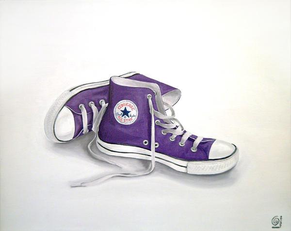 Purple Converse Shoes by CintiaGonzalvez
