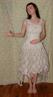 Old White Dress 1 by cyber-stock