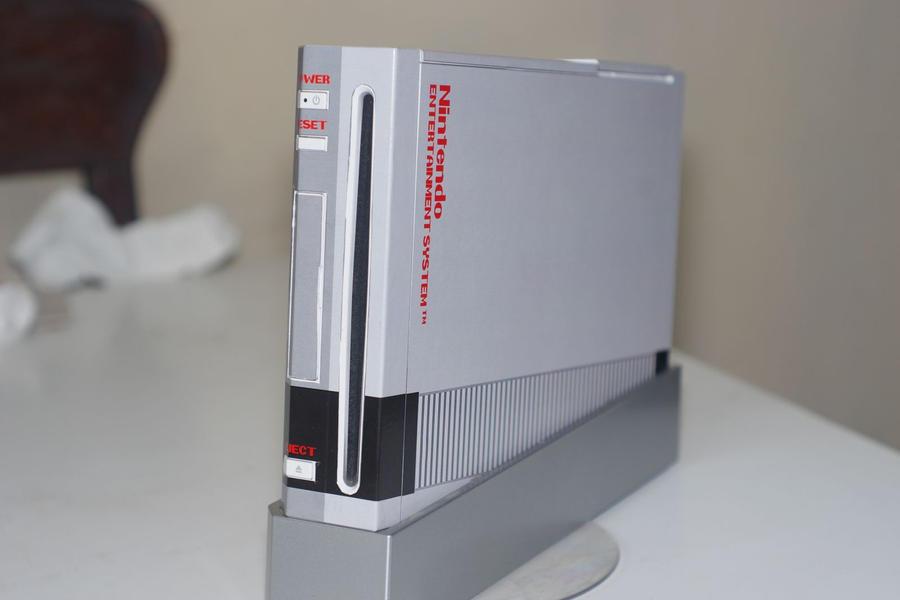 Wii skin old school NES design by jaruworks