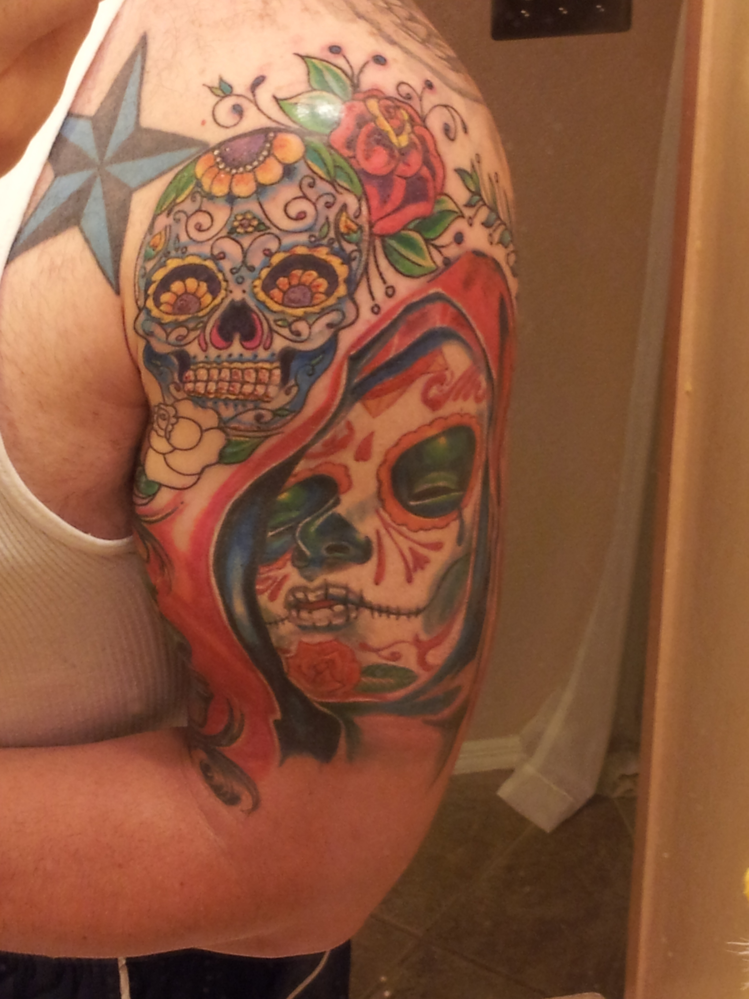 Day of The Dead Tattoo by swilliams1313