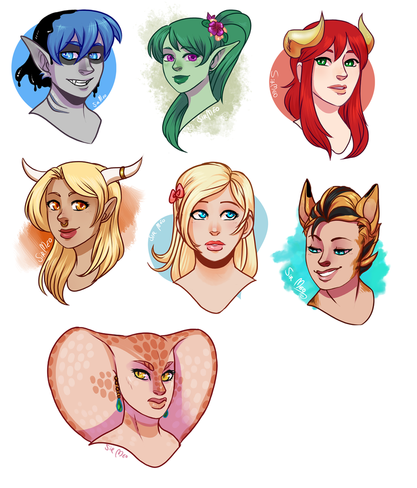 [commission] 62015 - headshot sale batch 1 by SirMeo