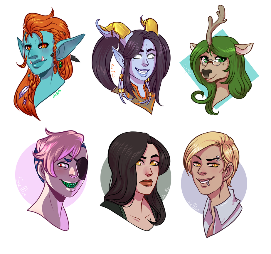 [commission] 62015 - headshot sale batch 2 by SirMeo