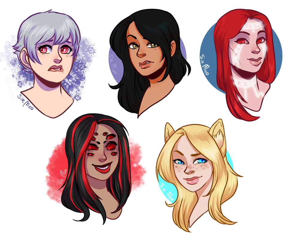 [commission] 62015 - headshot sale batch 3 by SirMeo