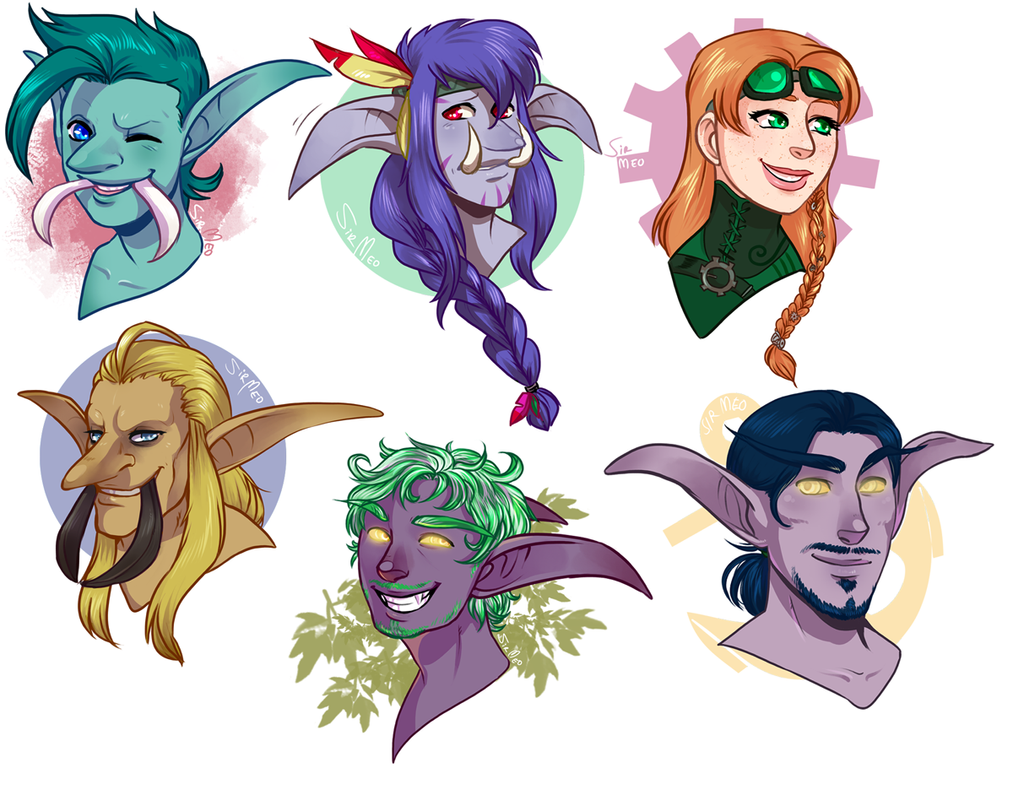 [commission] 62015 - headshot sale batch 4 by SirMeo