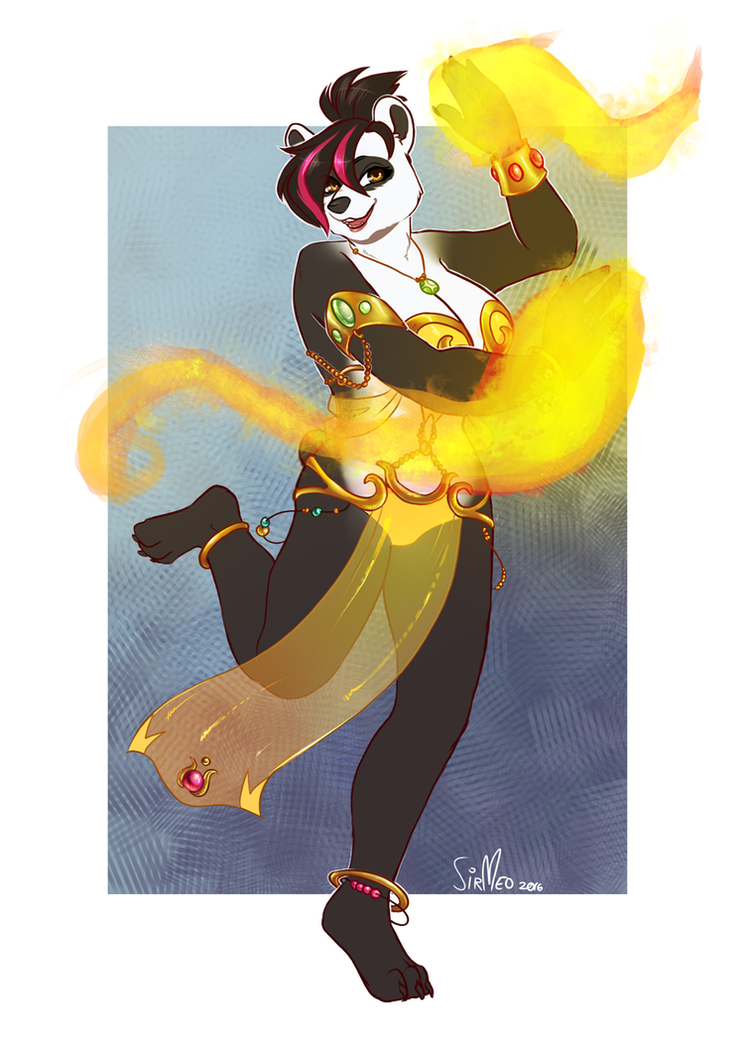 [commission] Fire Dancer by SirMeo