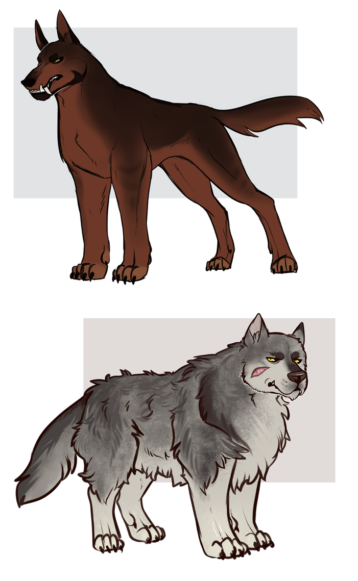 [character design] Werewolves by SirMeo