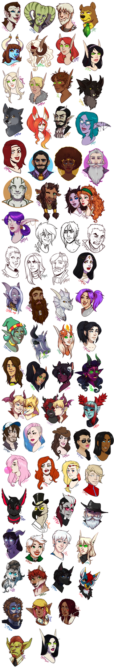 [commission] GIANT file -- headshot commissions by SirMeo