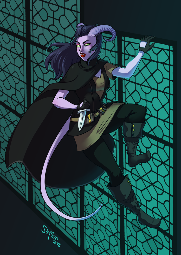 [commission] Tiefling Rogue by SirMeo
