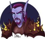 [commission][wow] Void Elf Warlock