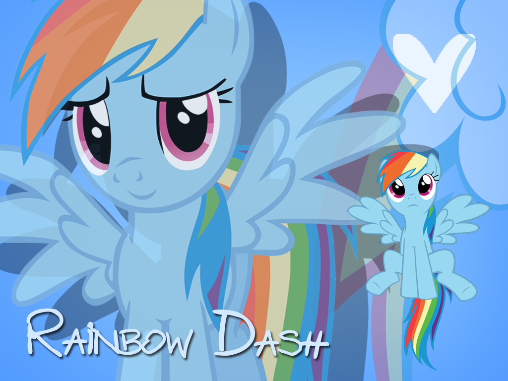 Rainbow Dash Wallpaper by Ichigooneechan66