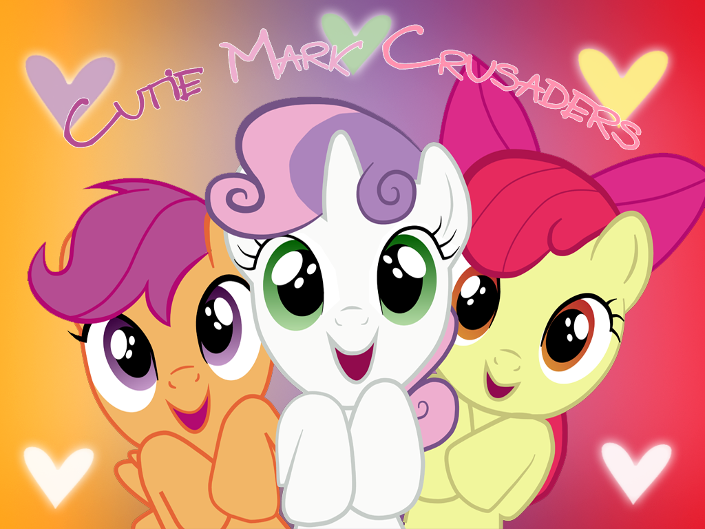 Cutie mark crusaders wallpaper by ichigooneechan66 on - My little pony cutie mark wallpaper ...