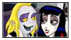 Beetlejuice and Lydia stamp by Ichigooneechan66