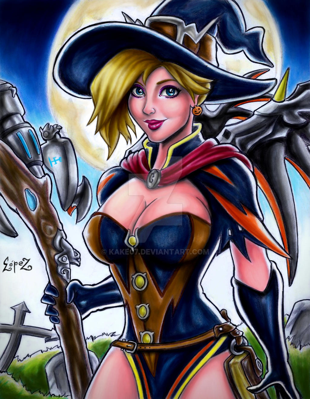 Overwatch Mercy (Halloween) by kake07 on DeviantArt