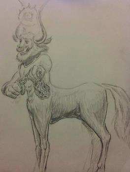 Half horse villain.