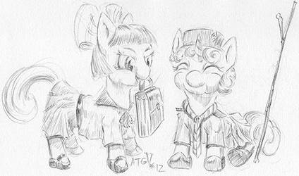 ATG5 Day12 final ponies back at school. by RandomCPV