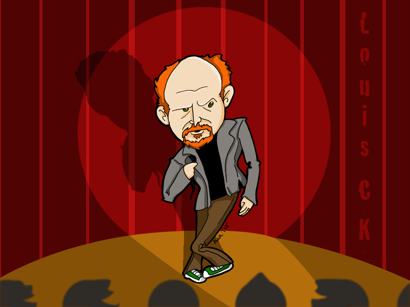 louis ck by BlackPotion
