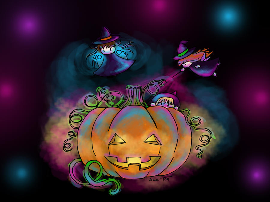 halloween fairies by BlackPotion