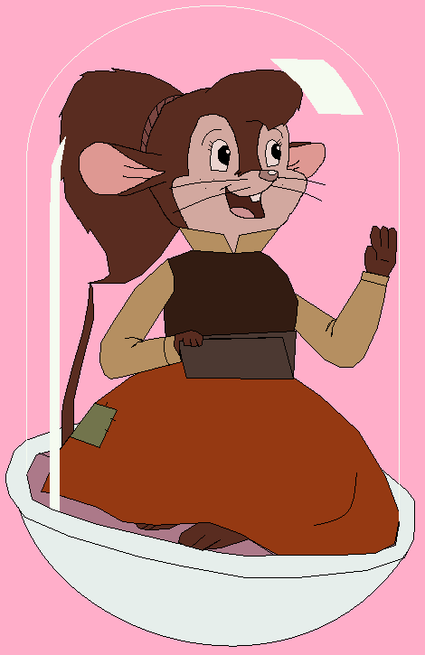 Tanya Mousekewitz in Space Pod by GuiherCharly
