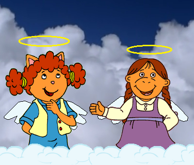 Sue Ellen and Muffy as Angels by GuiherCharly