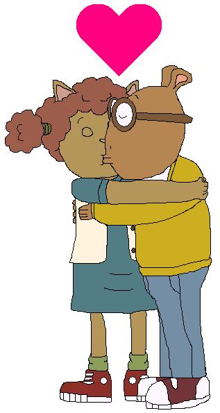Arthur and Sue Ellen kiss by GuiherCharly
