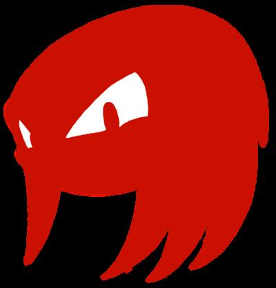 Knuckles Head Silhouette By Samsonic On Deviantart