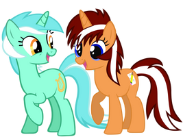 Request #12 ~ Orange Cane + Lyra Heartstrings ~ by Radiant--Eclipse