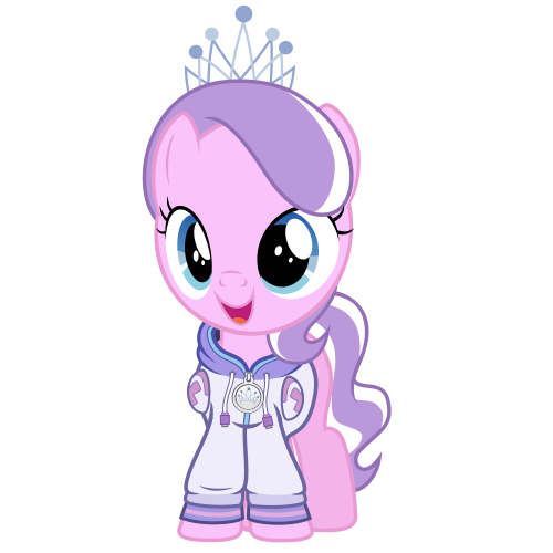 Commission #3 - Diamond Tiara In a Hoodie by Radiant--Eclipse