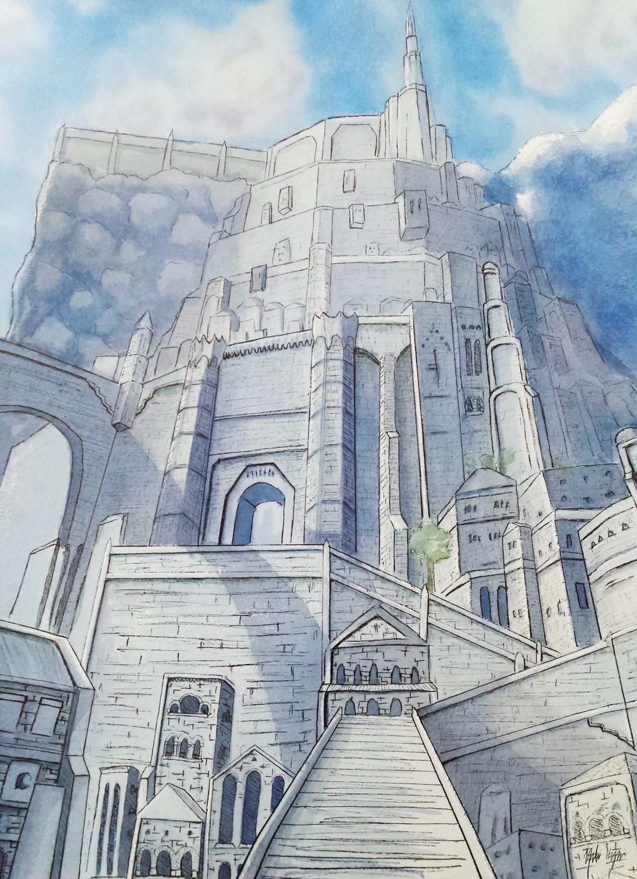 Minas Tirith by yuforawesome