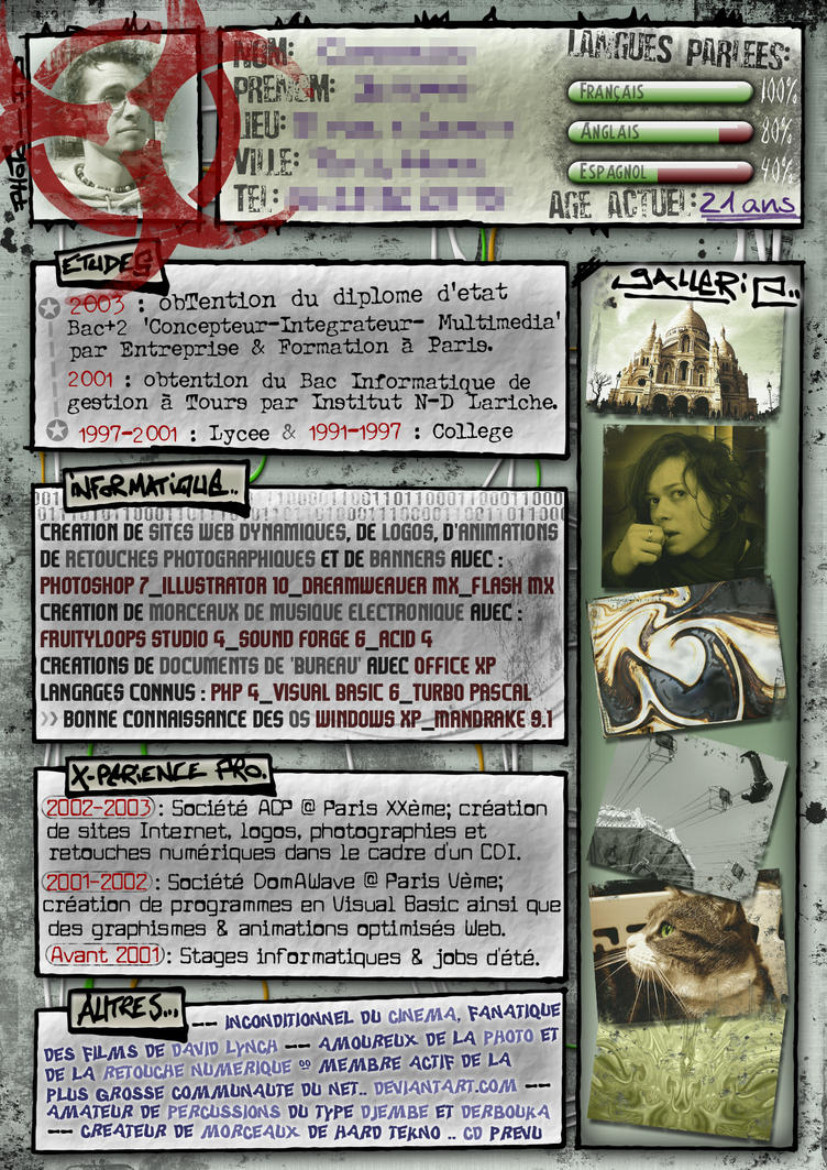 Curriculum Vitae Amen by protox