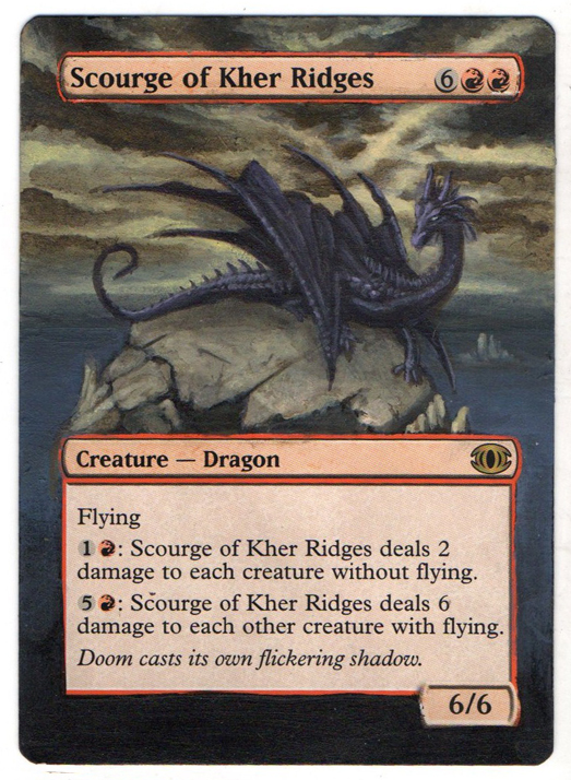 Scourge of Kher Ridges Altered Art Magic by Nicolarre Dragon Magic art MTG altered artwork Scourge MTG Dragon mtg card Dragon artwork Dragon art Scourge of Kher Ridges MTG