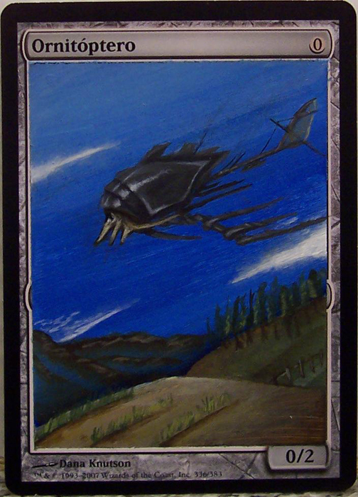 Ornithopter Altered Art Magic by Nicolarre Magic the Gathering Art Ornithopter MTG card artwork Ravager Affinity altered art magic the gathering artwork MTG artwork altered art