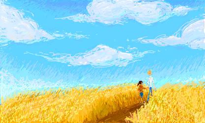 Blue Sky collab by Bonka-chan
