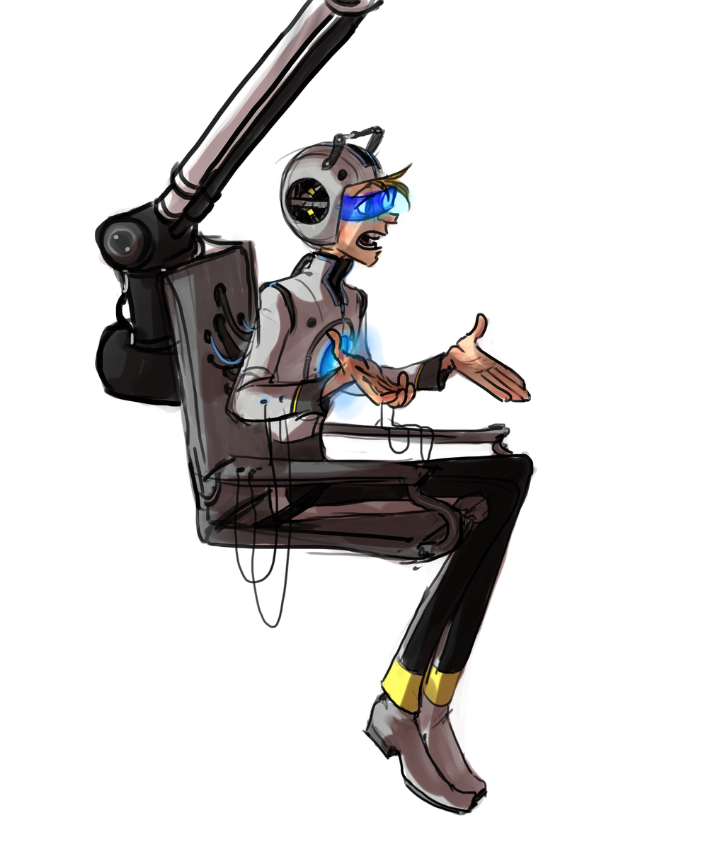 My Game Headcanon Wheatley design by Bonka-chan