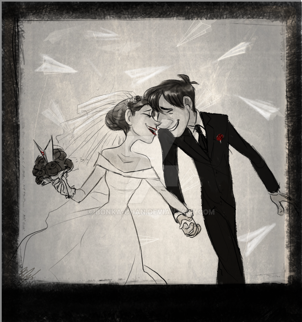 Paperman wedding by Bonka-chan