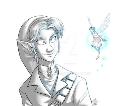 Ocarina Link and Fairy