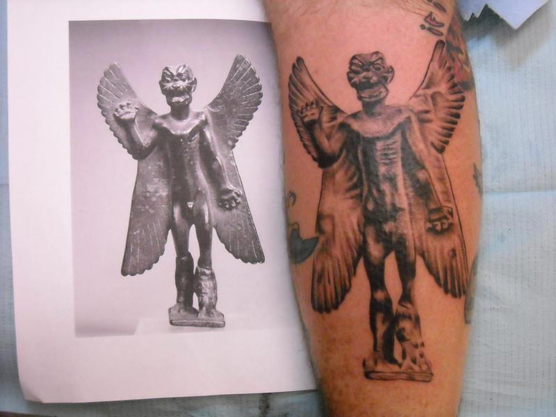pazuzu 1 - chest tattoo
