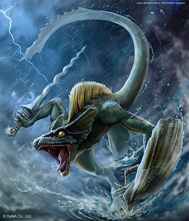 The Reptilian Tribes Lizardman_fighter__uncommon__by_mictones-d56g7nq