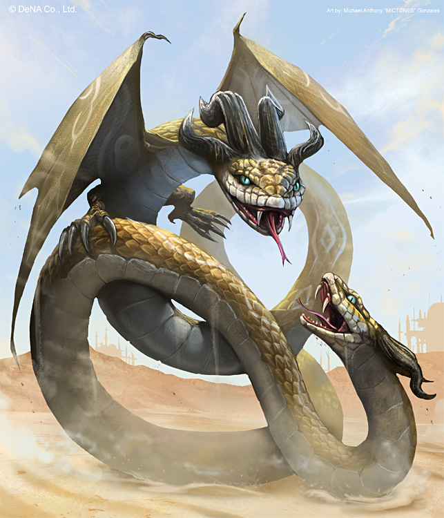 Dragon From Greek Mythology: Amphisbaena On Dragons-Only